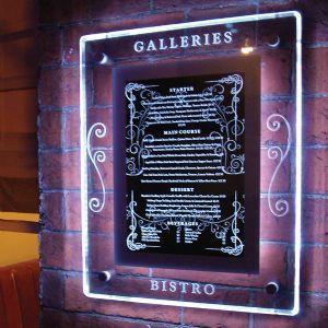 Crystallite Wall Display Case #wallcase #displaycase #menucase #engraved