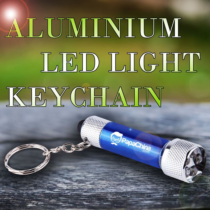 A Aluminium LED Light Keychain, which is able to be used for holding keys, use in the dark and has led torch, 5 led light, push button power switch, split metal key ring, can not only communicate your company's message, but will keep your company name and logo favorable in the eyes of the prospects.