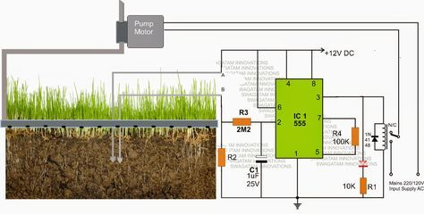 Simple Automatic Plant Watering Circuit - Electronic Circuit Projects