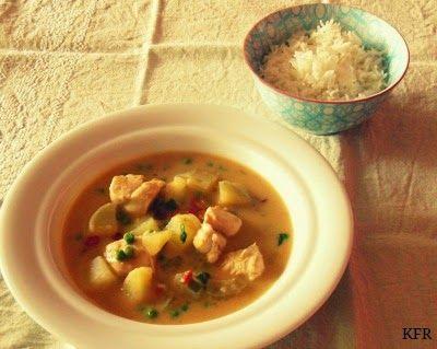Katrins favoriete recepten: Thaise curry met kip en zoete aardappel
