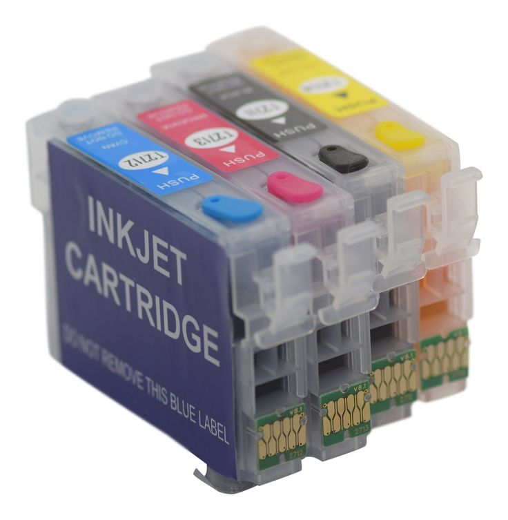 Pre Filled 4 XL Refillable Non OEM Cartridges with auto reset Chip Compatible Non Oem to Replace Ink Cartridges For Epson Workforce WF-3620DWF WF-640DTWF WF-7110DTW WF-7610DWF WF-7620DTWF available from our webstore