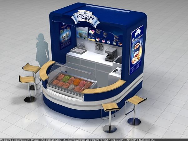 London dairy ice cream kiosk by Aniket Pawar, via Behance