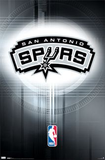 San Antonio Spurs Official NBA Team Logo Poster - Costacos Sports Inc.