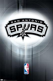 San Antonio Spurs Official NBA Team Logo Poster - Costacos Sports Inc.