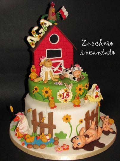 Foto: Non proprio una torta per una bambina....ma con un tema che qualsiasi bimbo adorerebbe! Nella vecchia fattoria....