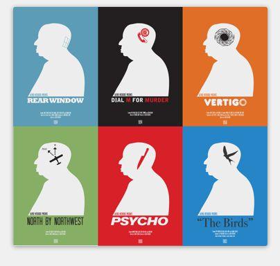 Produit découvert grâce à www.shopatthemuseum.fr : 6 affiches #Hitchcock Affiches de Matt Needle.
