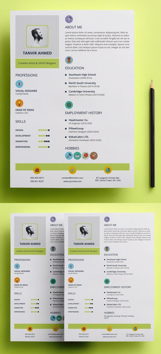 25 creative and beautiful resume cv examples