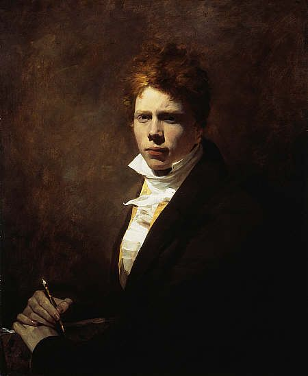 Sir David Wilkie Self-Portrait (1785-1841) ca.1804-05. Sir David Wilkie 1785-1841) was a Scottish painter. He was the son of the parish minister of Cults in Fife. He developed a love for art at an early age. In 1799, after he had attended school at Pitlessie, Kettle & Cupar, his father reluctantly agreed to his becoming a painter. Through the influence of the Earl of Leven Wilkie was admitted to the Trustees' Academy in Edinburgh, & began the study of art under John Graham.