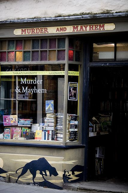 Murder and Mayhem bookshop, Hay-on-Wye, Wales (I can just picture Moffat and Gatiss here, holed up in a corner, plotting........)