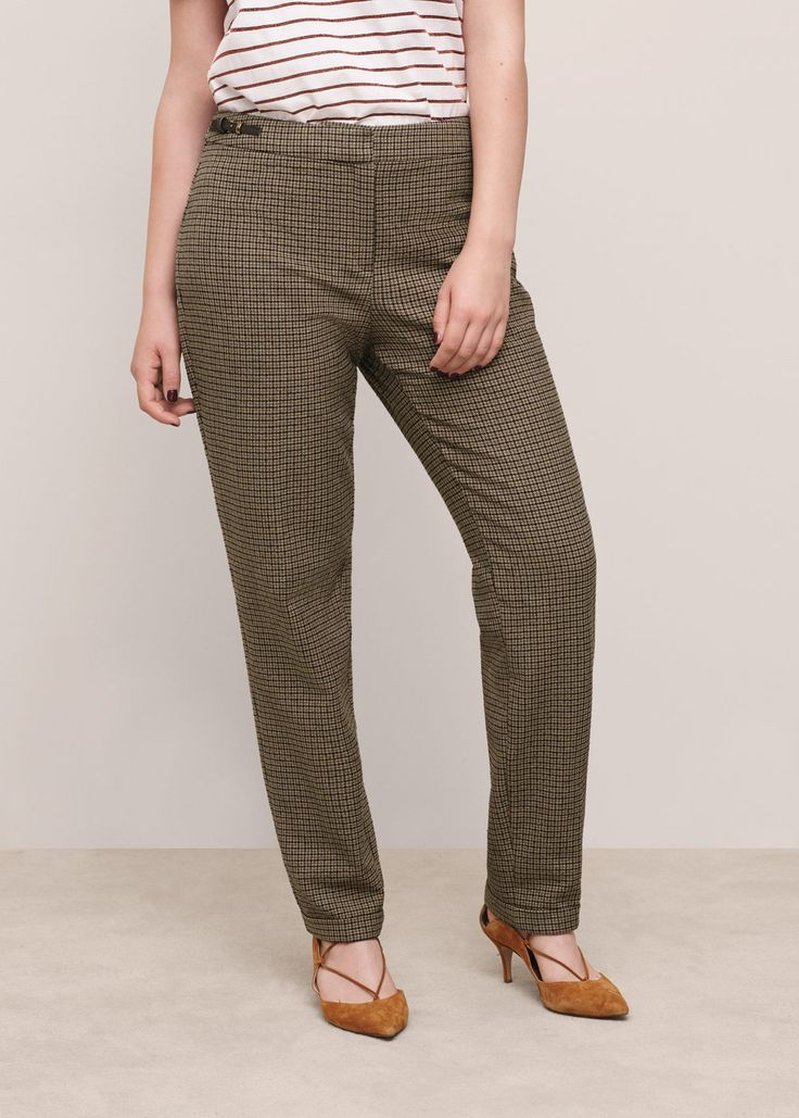 Cotton suit trousers - Trousers Plus sizes | Violeta by MANGO United Kingdom  Explore our amazing collection of plus size  suits at http://wholesaleplussize.clothing/