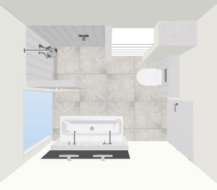 Indeling badkamer 2,5x2m met 2 deuren