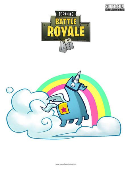 Fortnite Brite Llama Coloring Page Zsombi Coloring Pages Es Cool