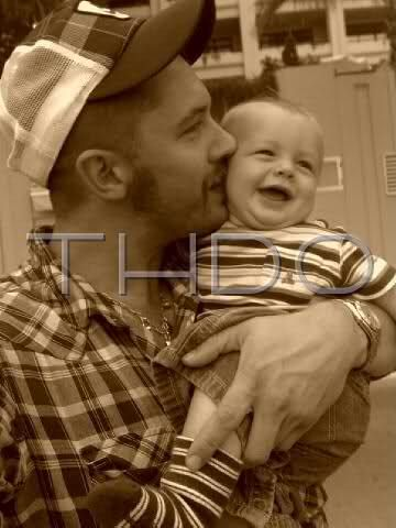 Tom Hardy with his son Louis