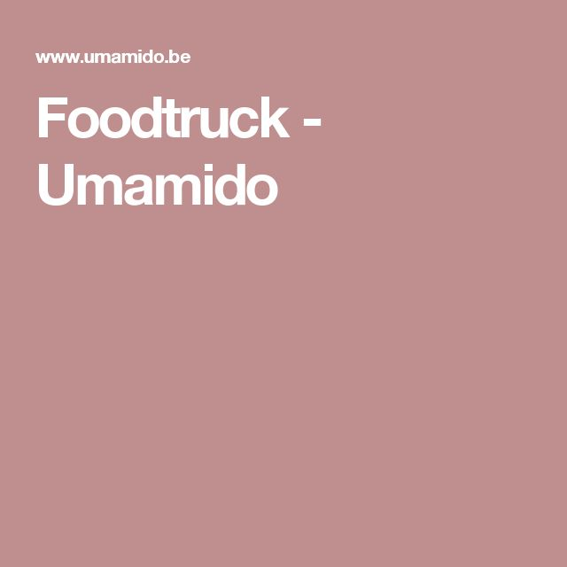 Foodtruck - Umamido