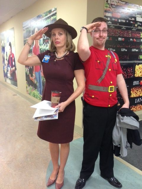 Shelley sporting the Mounty hat from Matt. Don't they both look awesome! [2014]