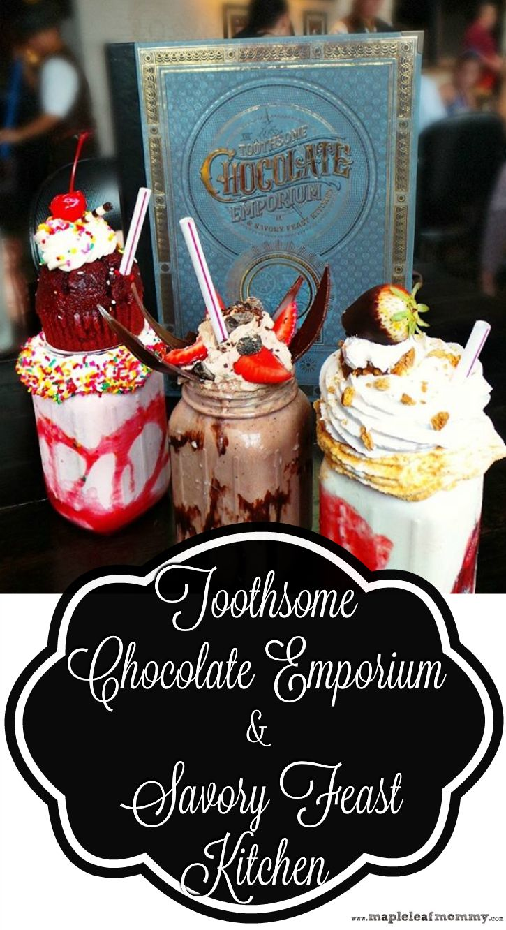 We went to Universal Orlando  and tried the new Toothsome Chocolate Emporium & Savory Feast Kitchen at the Universal City Walk.