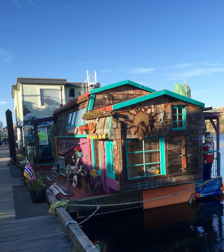 Cool water home at fisherman's wharf, Victoria, BC