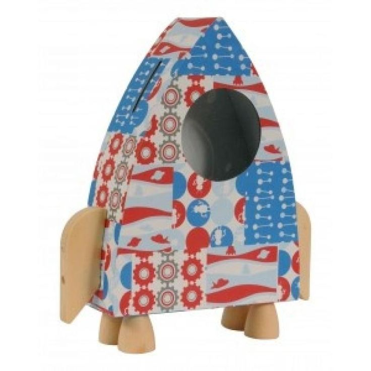 Paper Moon Rocket Money Box - Tiger Tribe for sale by Little Shop of Treasures. Other Tiger Tribe available now at LSOT.