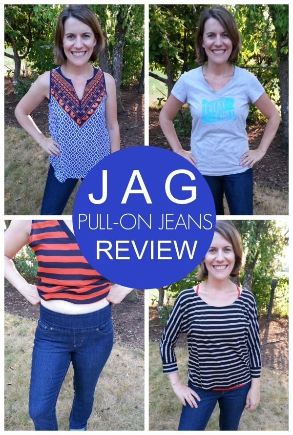 Jag Pull-On Jeans Review -- Check out how these amazing jeans smooth out your muffiin top. They have totally transformed my life!