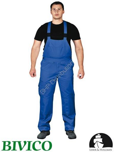 promocja! Niebieskie spodnie ochronne ogrodniczki LH-BISTER