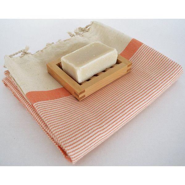 70 Off Turkish Beach Bath Towel Peshtemal Marine Style Natural Orange... (12 CAD) ❤ liked on Polyvore featuring home, bed & bath, bath, bathroom, beach towels, home & living and silver