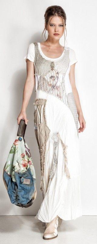 Patchwork or pieced dress