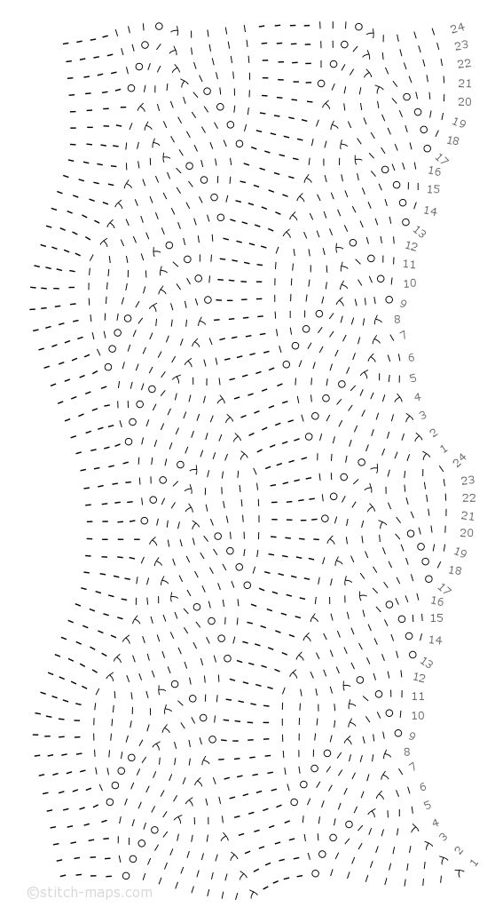 Chinese Lace Variant chart using mapping chart rather than grid...hmmmm