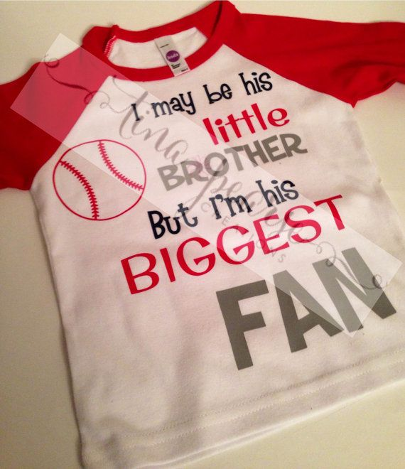 Little Brother Baseball Shirt Little by TinaPearseCreations