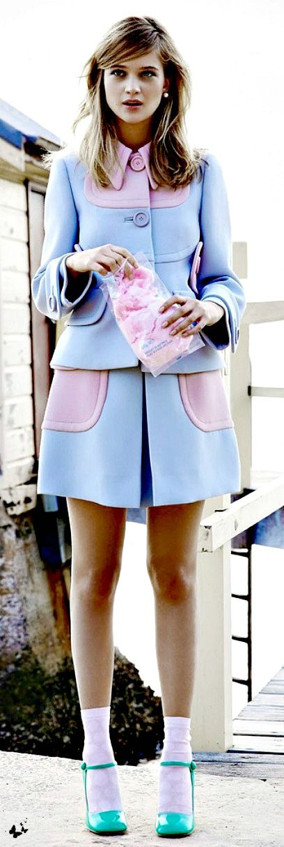 ~Miu Miu | The House of Beccaria# I can totally rock this with a different shoe and a bun;)