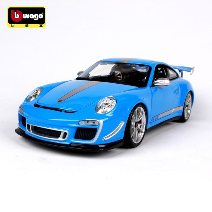 102$  Watch now - BBURAGO 1:18 911 GT3 RS Simulation Real Alloy Car Model White/Blue Decoration   #aliexpress