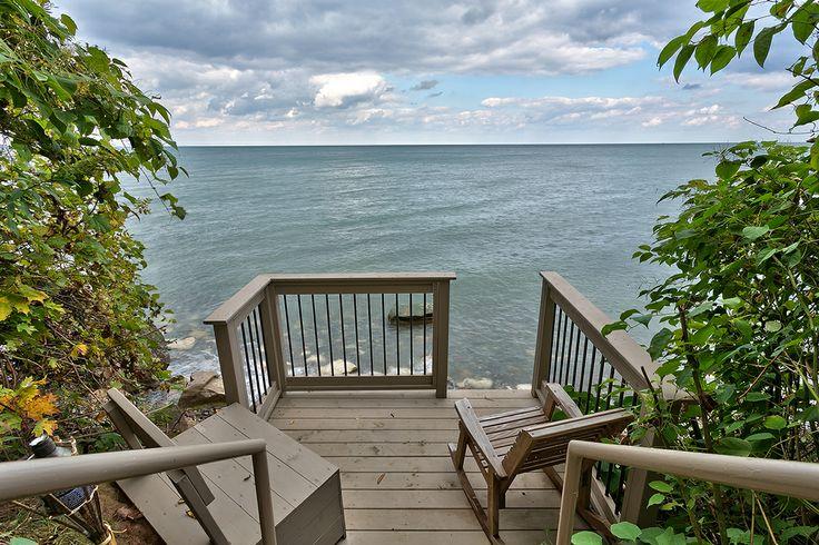 Custom Lower-Level Deck overlooking Lake Ontario