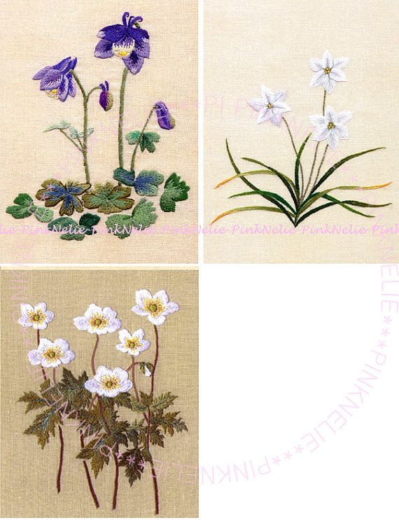 Sketch of wild Grass Embroidery Note Japanese Craft by PinkNelie