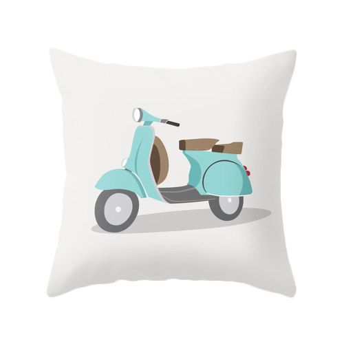 Bike pillow Mint Cushion Cover Mint pillow Bike by LatteHome