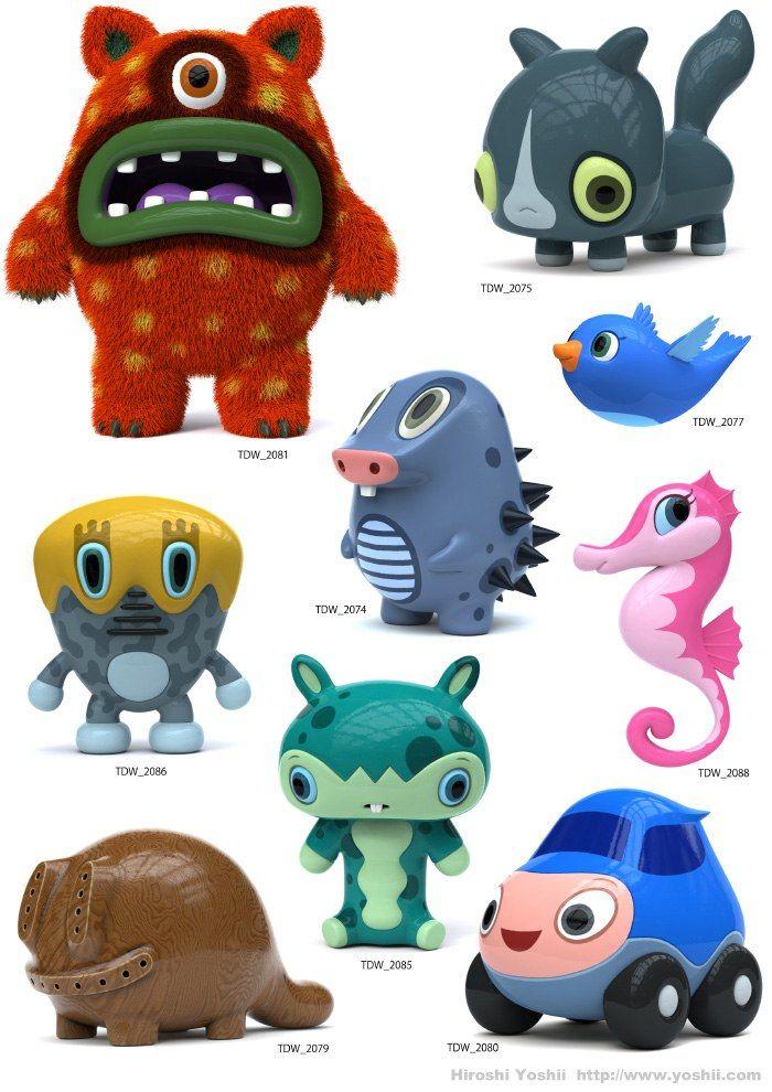 The Daily Work Characters - Hiroshi Yoshii