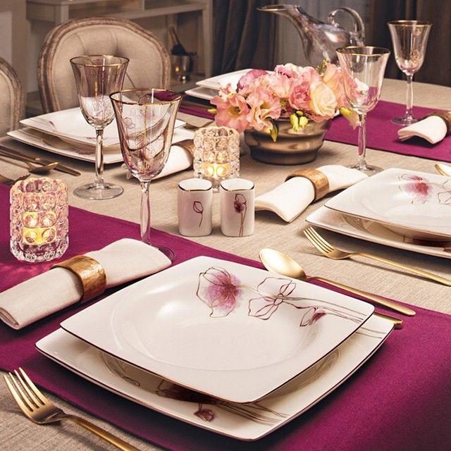 Bone Selection Porselen Yemek Takımı ile şık bir akşam yemeği...