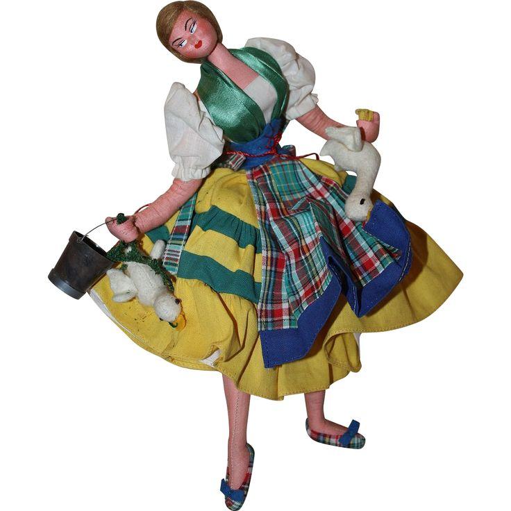 Wonderful Layna Cloth Doll 1950s