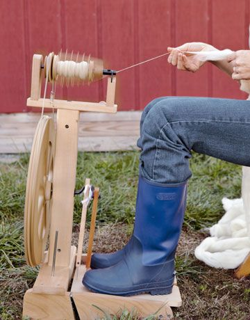 YES!!!!! I am so ready to try this! When we get settled down on the farm....I am going to start spinning! :)