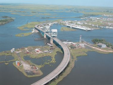 Grand isle la la looking southeast towards grand for Fishing charters grand isle la
