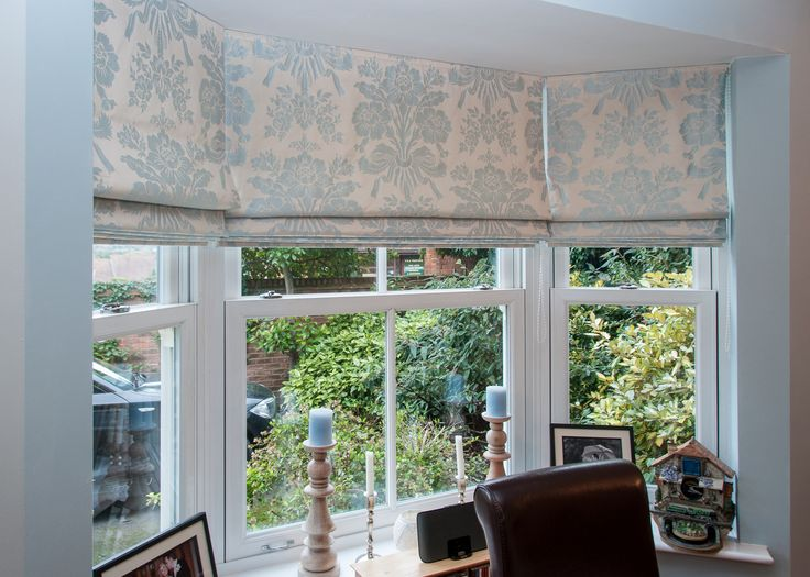 A Three Blind Bay Window Fabric By Laura Ashley Bespoke Blinds Sauping Curtains Pinterest And