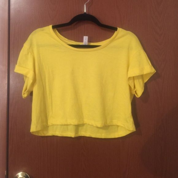 Yellow Crop Top Yellow crop top. From Wet Seal. Size L. Worn once. Wet Seal Tops Crop Tops