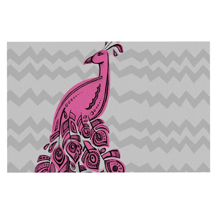 "Brienne Jepkema ""Peacock Pink"" Decorative Door Mat"