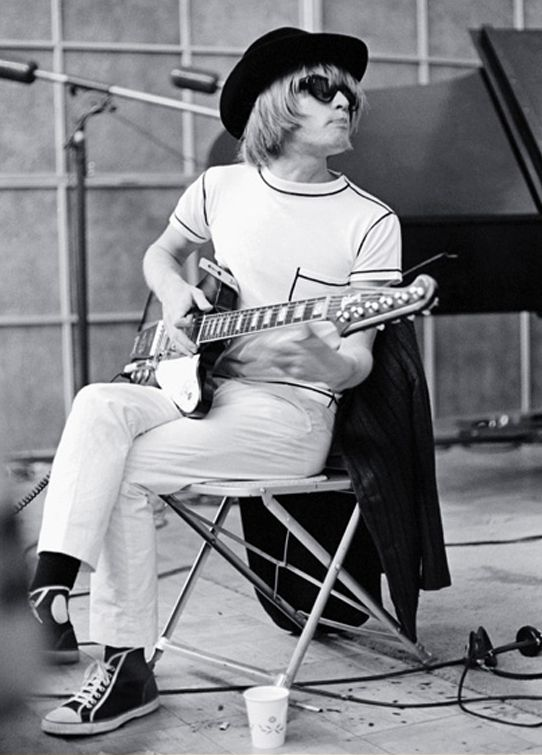 Brian Jones in the studio.