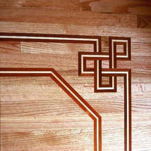 29 best wood floor border images on pinterest wood for Inlaid wood floor designs