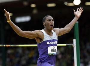 America's Erik Kynard took silver with a jump of 2.33m, with the bronze medal shared three ways between Mutaz Essa Barshim of Qatar, Derek Drouin of Canada and Great Britain's Robbie Grabarz.    Russia's Ivan Ukhov won the Olympic men's high jump title on Tuesday with a best of 2.38 metres, the second-best in the world this year.