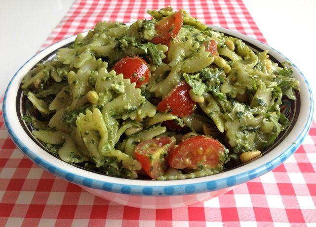Pastasalade pesto   Het lekkerste recept vind je op AllesOverItaliaansEten