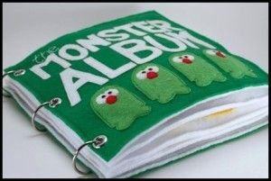 Quiet book of monsters. So cute.