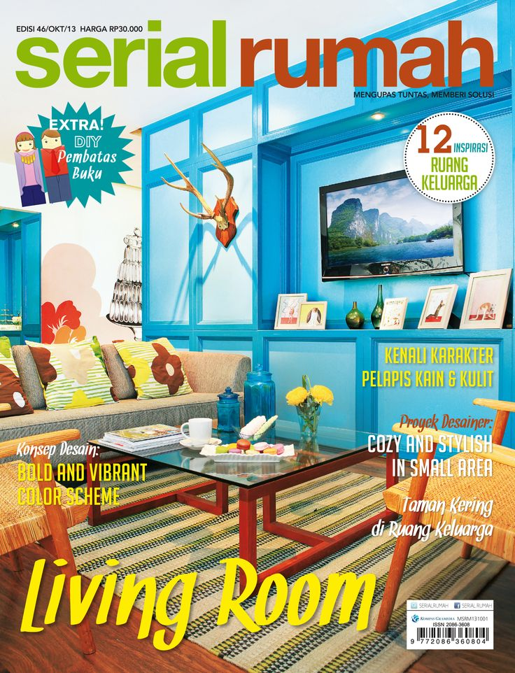 INTERIOR, MAGAZINE, DESIGN, COVER SERIAL RUMAH, LIVING ROOM