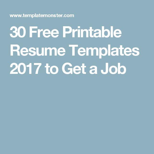 25+ unique Free printable resume ideas on Pinterest Resume - printable resume templates