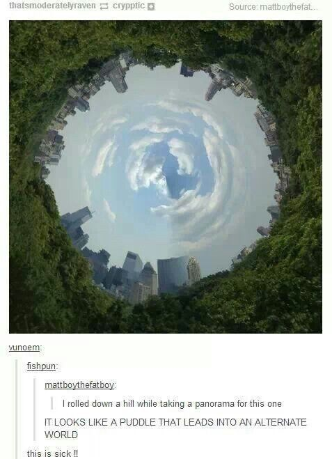 Word of advice - panorama while rolling down hill = awesomeness. I'm gonna do this some day