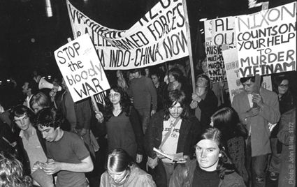 A New Zealand protest against the Vietnam War in 1972. Image: (c) John Miller
